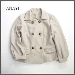 アナイ(ANAYI)のアナイ★スクエアネック ウールジャケット ブルゾン アイボリー 38(M)(テーラードジャケット)