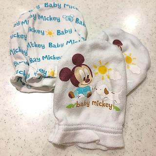ディズニー(Disney)のディズニーベビー☆ミッキーミトン2組セット(手袋)