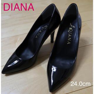 DIANA - DIANA  エナメル パンプス 24cm