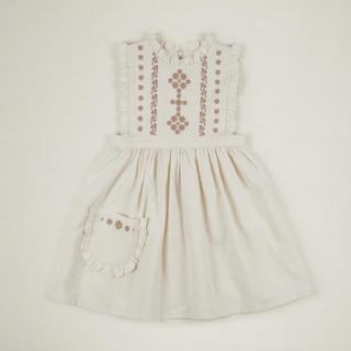 Caramel baby&child  - 20ss apolina IDA EMBROIDERED DRESS アポリナ
