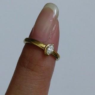 ダイヤモンドリング K18(リング(指輪))