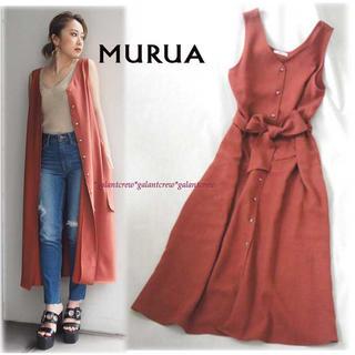 MURUA - 新品未使用品 MURUAムルーア 2WAY ロングジレワンピース