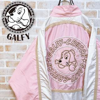 【激レア‼︎】ガルフィー◎ビッグロゴ刺繍 ナイロン 90s トラックジャケット