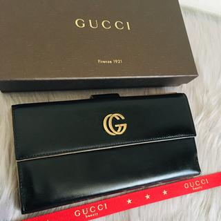 Gucci - 美品 グッチ 二つ折り 長財布 wホック