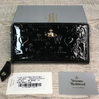 Vivienne Westwood - Vivienne Westwood◆ 長財布 エナメル ファスナー式 ブラック