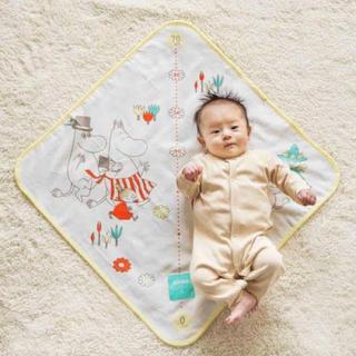 身長計つき新生児おくるみ ムーミンベビーコラボ 綿100% 新品未使用