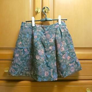 クチュールブローチ(Couture Brooch)の花柄がめちゃ可愛❤Couture broochのスカート風キュロット❇40サイズ(キュロット)