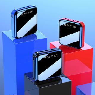 モバイルバッテリー 大容量 LEDライト ブラック