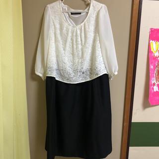 シマムラ(しまむら)のマルちゃん専用 ひざ丈ワンピース 3L(ミディアムドレス)