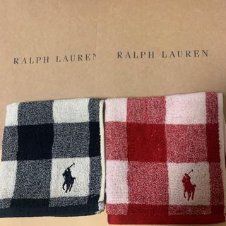 POLO RALPH LAUREN - ラルフローレン タオルハンカチ2枚