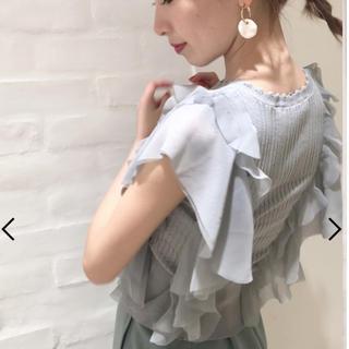 snidel - 完売色🌷新作新品🍀スナイデル シアーフリルニットプルオーバー