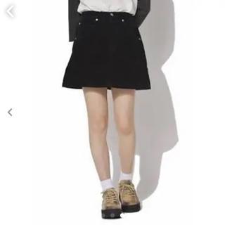 スピンズ(SPINNS)の【送料込み】☆新品未使用☆コーディュロイ台形ミニスカート(ミニスカート)