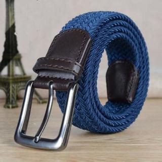 【ブルー】高品質 伸縮性と強い耐久性 メッシュベルト