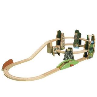 木製 トーマス レーシングダウンレールセット ラーニングカーブ