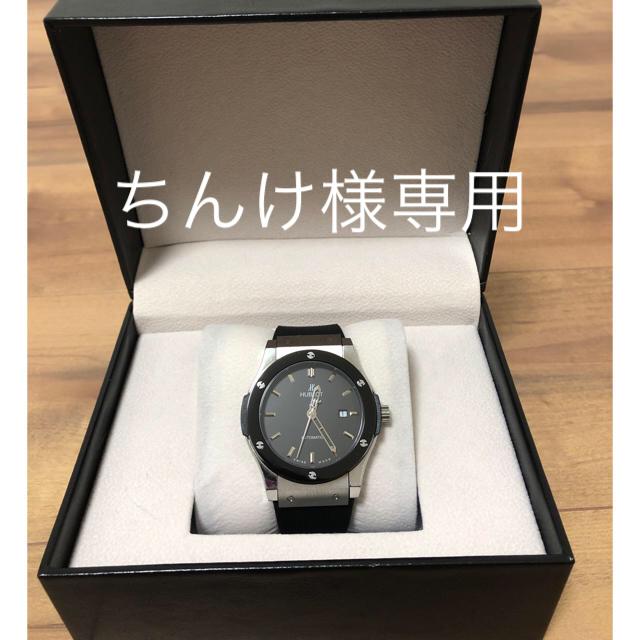 裏スケ自動巻腕時計ブラックの通販