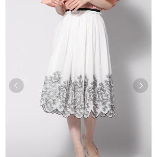 ketty - ケティ コットン100%刺繍スカラップスカート