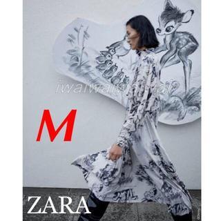 ZARA - 新品 完売品 ZARA M ディズニー バンビ ハイネック ワンピース