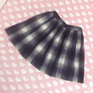 マーキュリーデュオ(MERCURYDUO)のマーキュリー♡チェック柄ウールスカート(ミニスカート)