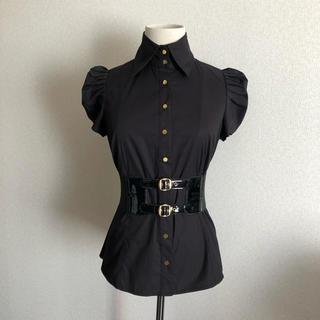 ビーシービージーマックスアズリア(BCBGMAXAZRIA)のインポート  ベルト付きブラウス(シャツ/ブラウス(半袖/袖なし))