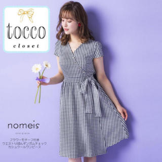 tocco - tocco  大人気完売  ギンガムチェック パール リボン ワンピース