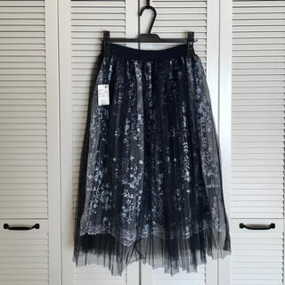axes femme - 【新品】axes femme 刺繍チュールスカート M