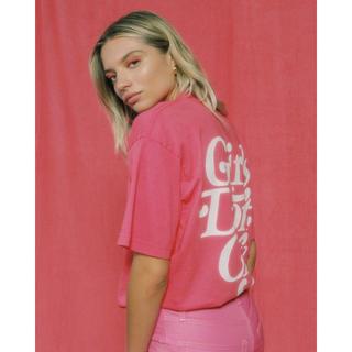 シュプリーム(Supreme)のgirls don't cry LOGO T-SHIRT PINK Lサイズ(Tシャツ/カットソー(半袖/袖なし))