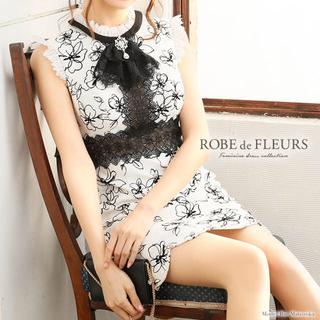 ROBE - ROBE de FLEURS フラワープリント切替タイトミニドレス♡