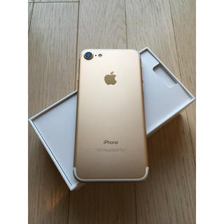 iPhone - 美品 iphone7 大容量 128GB  人気のゴールド!!