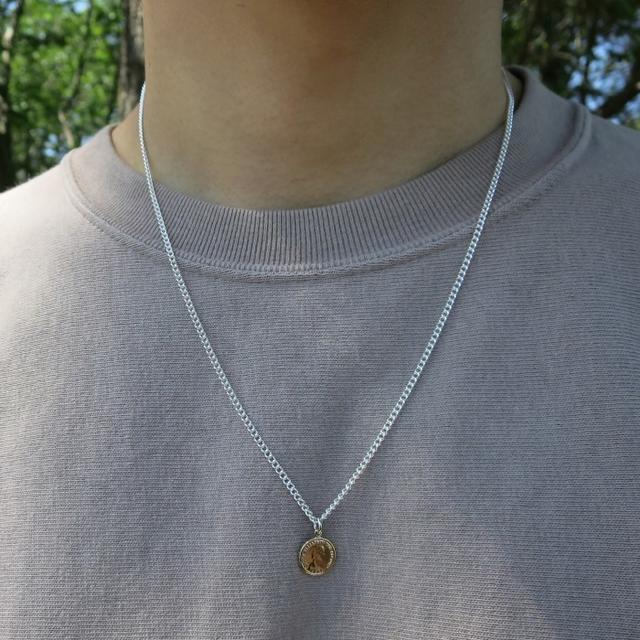 コインネックレス ゴールド 50cm メンズ レディース ネックレス メンズのアクセサリー(ネックレス)の商品写真