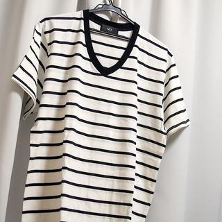 AZUL by moussy - AZUL Tシャツ XL メンズ ボーダー ホワイト ブラック 新品 未使用