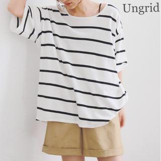 Ungrid - Ungrid 半袖カットソー(F) ボーダー柄