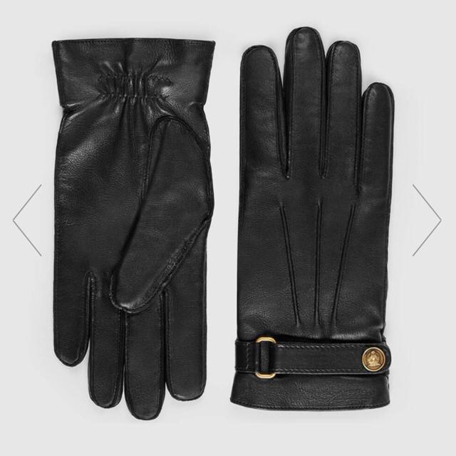 GUCCI レザー グローブ メンズ手袋の通販