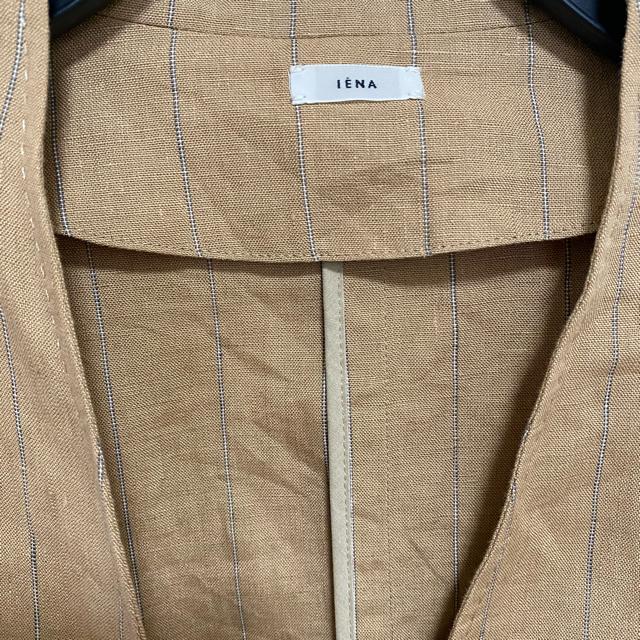 IENA(イエナ)の【なみへい様専用】イエナ フレンチリネンVネックジャケット レディースのジャケット/アウター(ノーカラージャケット)の商品写真