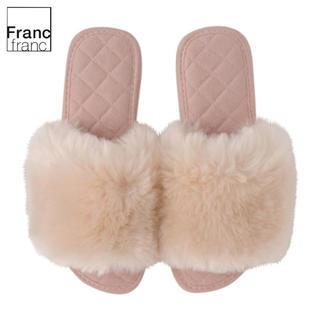 Francfranc - ❤ギフト袋有❤新品タグ付 フランフラン フラッフィー ファー ルームシューズ ❤