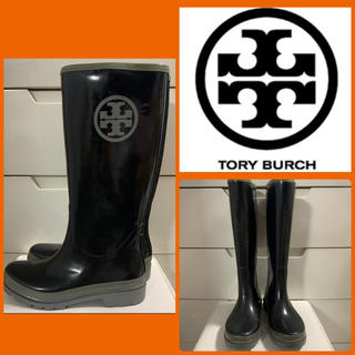 Tory Burch - トリーバーチ  ブラックエナメル   アイコン レインブーツ