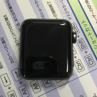 アップルウォッチ(Apple Watch)の【美品】AppleWatch3 GPSモデル バンドおまけ付き(スマートフォン本体)