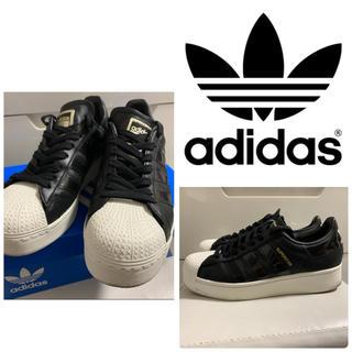 adidas - adidas  orginals スーパースター ボールド ブラック スニーカー