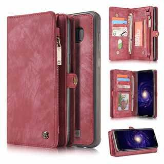 赤★ギャラクシー  s8 プラス s9 スエード ケース 財布★