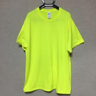 ギルタン(GILDAN)の新品 GILDAN 半袖Tシャツ ネオンイエロー L(Tシャツ/カットソー(半袖/袖なし))