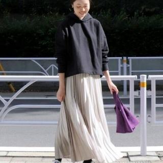 IENA SLOBE - イエナスローブ サテンプリーツロングスカート スカート ロングスカート