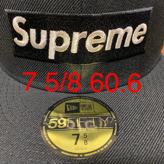 Supreme - Supreme Metallic Box Logo New Era 60.6 黒