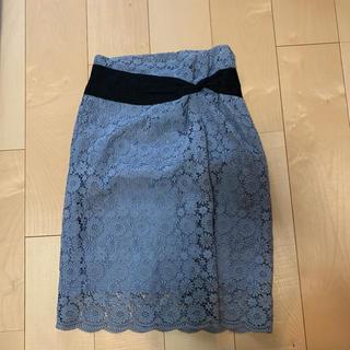 オオシマレイ(OSHIMA REI)の美品 OSHIMA  REI レーススカート(ひざ丈スカート)