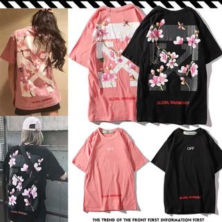 OFF-WHITE - オフホワイト OFF-WHITE ピンク 桜Tシャツ トップス M