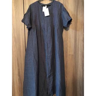 SM2 - 【未使用】TSUHARU ツハル  半袖リネン100% ワンピ定価¥16189