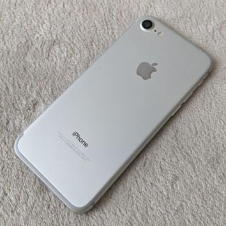 アイフォーン(iPhone)のiPhone7 128GB silver SIMロック解除済 ★美品(スマートフォン本体)