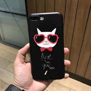 iPhone6 iPhone6s 可愛い サングラス ネコ ソフト ケース(iPhoneケース)