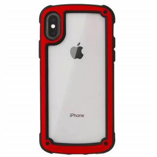 レッド iphone7/8 iphoneケース シンプル バイカラー 防塵 保護(iPhoneケース)