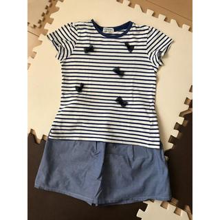 シューラルー(SHOO・LA・RUE)の子供服 スカートとTシャツ120  シューラルー(Tシャツ/カットソー)
