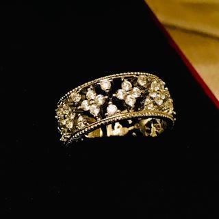 ハリーウィンストン(HARRY WINSTON)のクラシカルフラワーリング☆高品質人工ダイヤモンドハリーウィンストンヴァンクリーフ(リング(指輪))