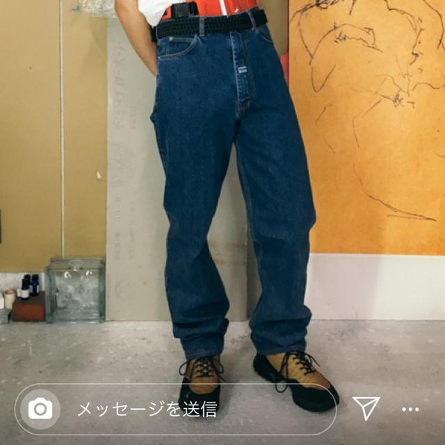 JOHN LAWRENCE SULLIVAN(ジョンローレンスサリバン)のmartine rose デニム メンズのパンツ(デニム/ジーンズ)の商品写真
